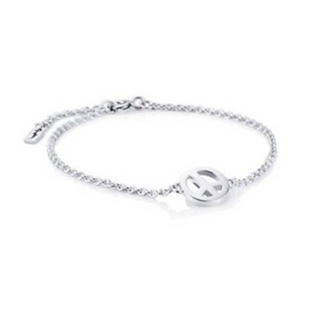 Bilde av Mini peace armband, sølv