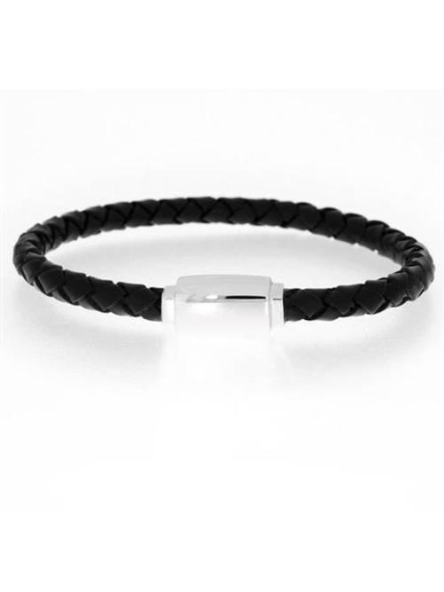 Bilde av Skinn armband, sort