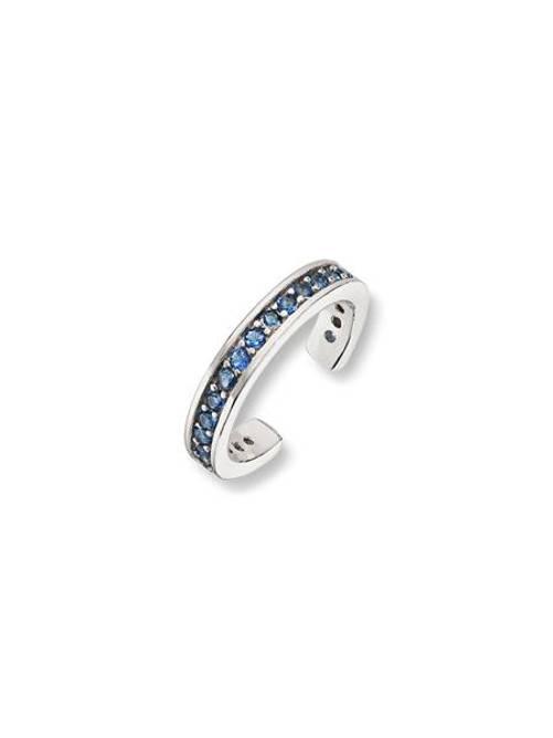Bilde av Earcuff, sølv med blå