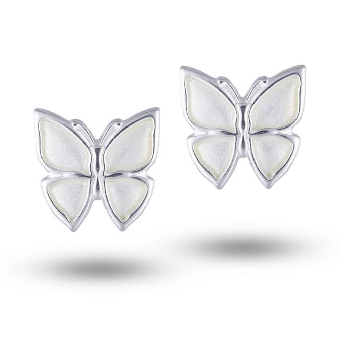 Bilde av Ørepynt, Hvit sommerfugl