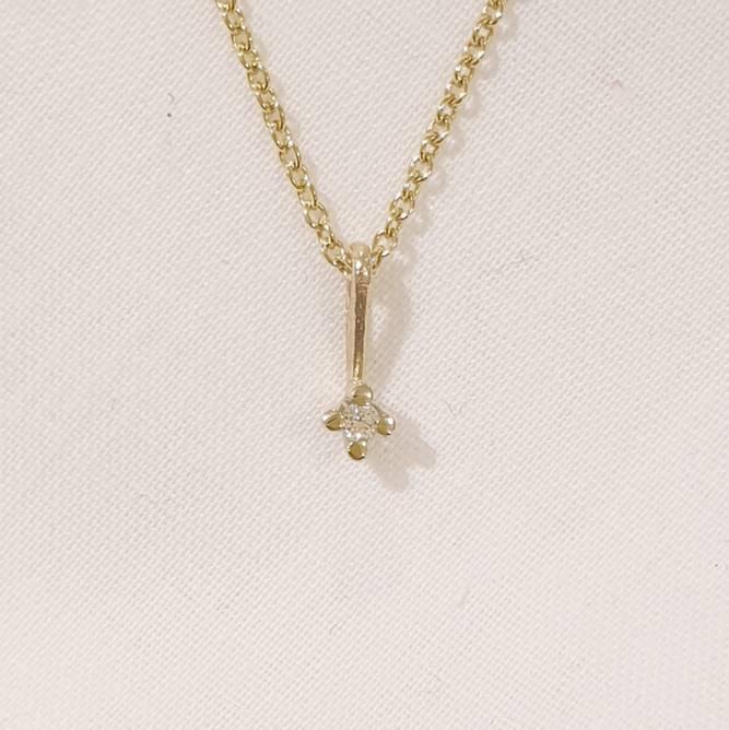 Bilde av Diamant anheng 585 gull